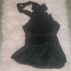 Bebe black dressy halter top